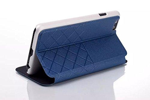 iPhone Case Cover IPhone 6 6s Plus Premium PU Leather Case Pouch, Flip Portefeuille Housse Silicone avec carte et Cash Slot pour iPhone 6 6s Plus ( Color : Blue , Size : IPhone 6S Plus ) Blue