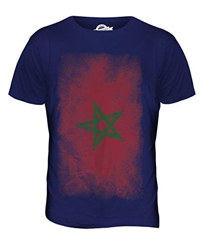 CandyMix Marokko Verblichen Flagge Herren T Shirt Navy Blau