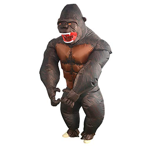 P Prettyia Aufblasbares Gorilla Kostüm / Anzug Luft Jumpsuit Fatsuit für Erwachsene