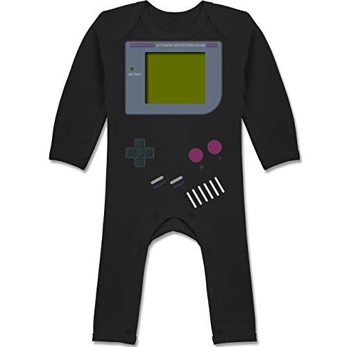 Shirtracer Strampler Motive - Gameboy - 3-6 Monate - Schwarz - BZ13 - Baby-Body Langarm für Jungen und ()