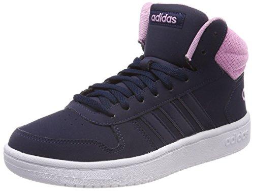 adidas Damen Hoops 2.0 Mid Fitnessschuhe Blau Maruni/Ftwbla 000, 39 1/3 EU