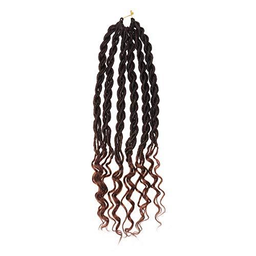 t Braids Göttin Faux Locs Twist Flechten Haarverlängerung für Frauen (T27 Muster) ()
