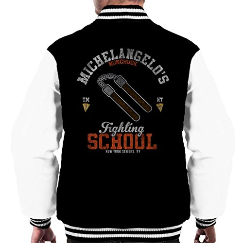 Cloud City 7 Michelangelo Nunchuck School Teenage Mutant Ninja Turtles Men's Varsity Jacket