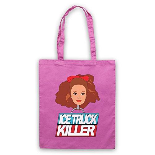 Inspiriert durch Dexter Ice Truck Killer Inoffiziell Umhangetaschen Rosa