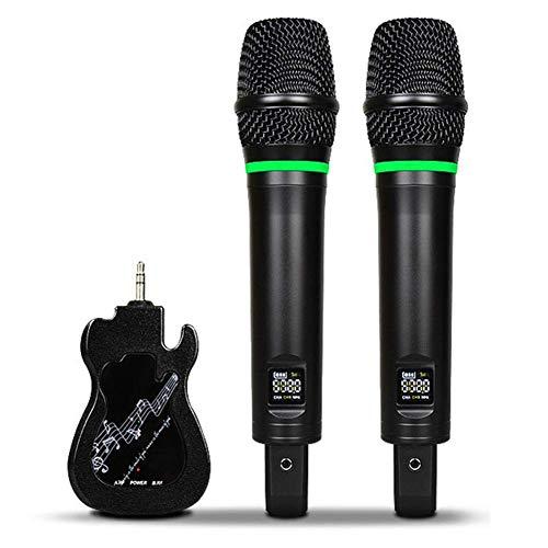 JASZW Tragbares kabelloses Karaoke-System, 1 Paar Bluetooth-Karaoke-Mikrofon-Set mit Bluetooth-Empfänger, für Party, Podcast, Familie, kompatibel