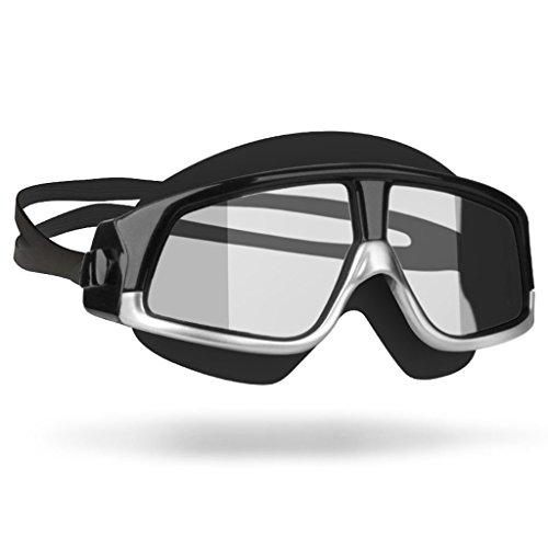SX-CHENG Discoloration Spiegel Swim Brillen Bequeme Silikon Große Rahmen Schwimmen Brille Schwimmbrille Männer Frauen