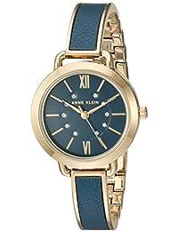 Anne Klein–Vestido de aleación de metal de cuarzo y reloj, color: azul (modelo: AK/2436blgb)