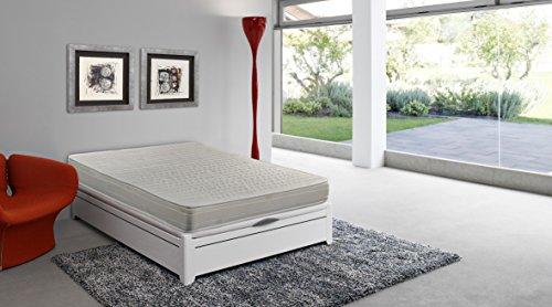 Colchón espuma HR, 90 x 190 x 16 cm, confort en dos...