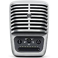 Shure MV51 Microfono Digitale a Condensatore con Diaframma Largo, USB e Cavo Lightning, Argento