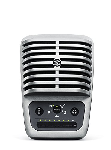 Shure MV51 - Micrófono digital de condensador (USB, Lightning, 20 Hz-20 kHz, 130 dB), color plateado
