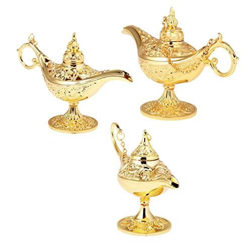 Tubayia 3 Stück Aladdin Lampe Schmuckschatulle Schmuck Organizer Öllampe Wunderlampe Haus Dekoration -