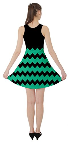 CowCow Damen Kleid Schwarz Schwarz Jadegrün