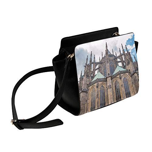 Yushg Männer Tasche Schulter Romantik Gotik Architektur Kirche Umhängetasche Umhängetaschen...