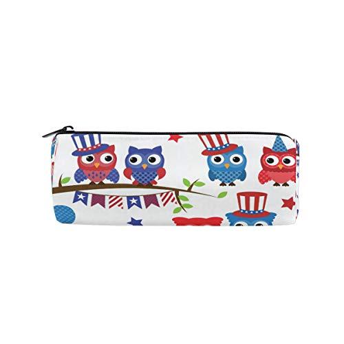 en Federmäppchen 4. Juli Patriotische Eulen und Zweige Studenten Schreibwaren Tasche Reißverschluss Tasche Kosmetik Tasche für Mädchen Jungen und Erwachsene ()
