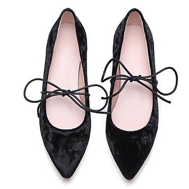 Oxfords Donna Primavera Estate Autunno Inverno Dress Ankle Strap seta Fleece ufficio & carriera casuale tacco grosso Lace-up Rosa Nero Black