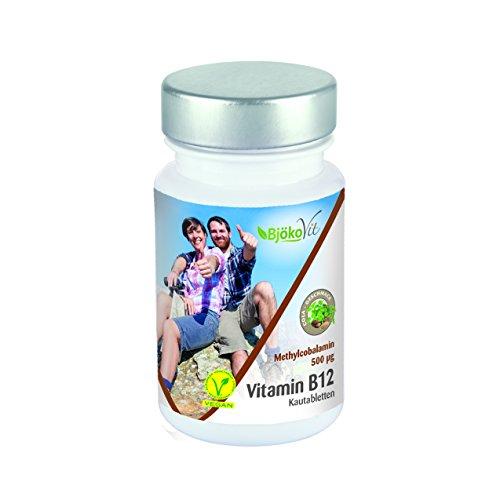BjökoVit Vitamin B12 Vegan Kautabletten mit Cola-Geschmack - 500mcg - Methylcobalamin - 90 Stück -