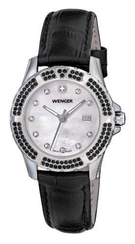 Wenger - 70315 - Montre Femme - Quartz Analogique - Bracelet Cuir Noir