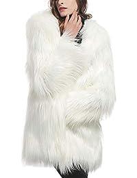 Samber Abrigos Largas Mujer Invierno de Pelo Sintético Chaqueta de Pelo Largo Mujer de Moda