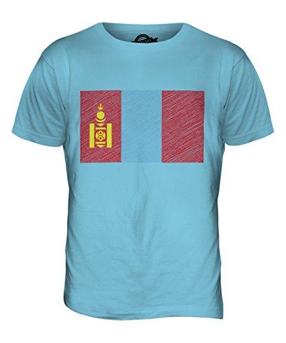 CandyMix Mongolei Kritzelte Flagge Herren T Shirt Himmelblau