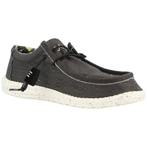Dude Shoes Men's Wally Stretch Black Black