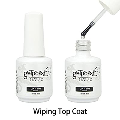 Elite99 UV LED Wiping Top Coat Soak Off Nail Gel Polish 10ml