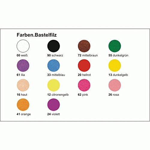 Preisvergleich Produktbild Bähr Bastelfilz blau mittel, Ursus 20x30cm Einzelbogen