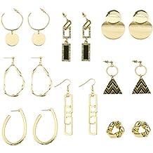 884dc5b99788 Udekit Borla de Moda de Lujo Colgante Oro Pendiente Conjunto para Dama  Mujer Niñas (8