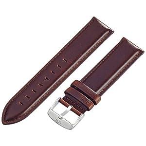 Daniel Wellington Herren Uhren-Armband Classic St Mawes Leder braun Schliesse Silber DW00200021