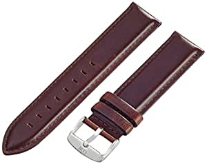 Daniel Wellington St Andrews Silver Men's Brown Leather Buckle Watch Strap with Pin of 20cm 0407DW
