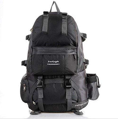 LQABWLarge Kapazität 50L Im Freien Wasserdichten Nylon Climbing Tasche Camping Rucksack Black