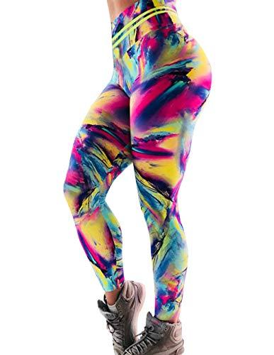 Mallas Deporte Mujer Leggins Fitness Push up Running Yoga Pantalón Medias  Deportivas Multicolor 3D Impresión Arco 4c0187b9b0e6