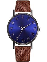 Moda De Europa Y Estados Unidos, Moderno Reloj De Cuarzo con Espejo Azul, Reloj