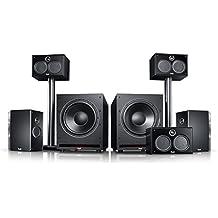 """Teufel System 6 THX """"5.2-Set"""" Film Subwoofer Lautsprecher Movie Musik Raumklang Sound Heimkino DTS HD Komplettanlagen 5.1 Soundanlage Surround Kino"""