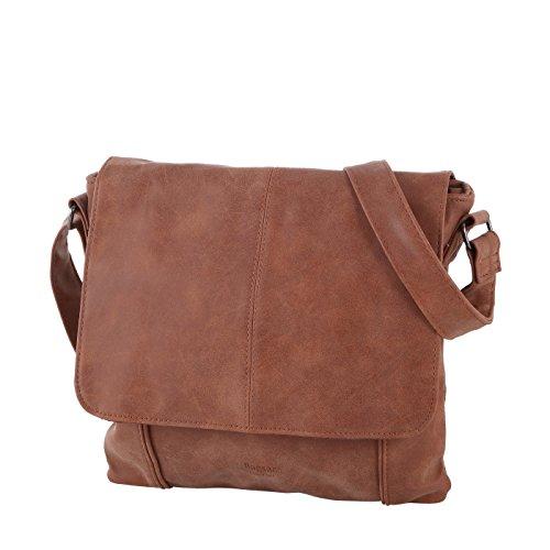 Bagsac Umhängetasche S42/49016, Damen Handtasche aus edlem Kunstleder, praktische Tasche für den Alltag (28x27x8cm)