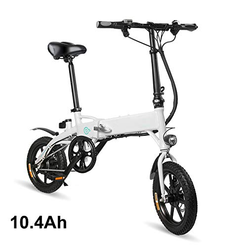 Watkings folding electric bike Bicicletta Elettrica, Bicicletta elettrica Pieghevole da 14 Pollici, 250 W, velocità Massima 25 km/h, carico utile 120 kg (Arrivati 3-7 Giorni)