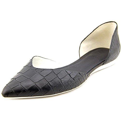 Vince Tara Cuir Chaussure Plate Black