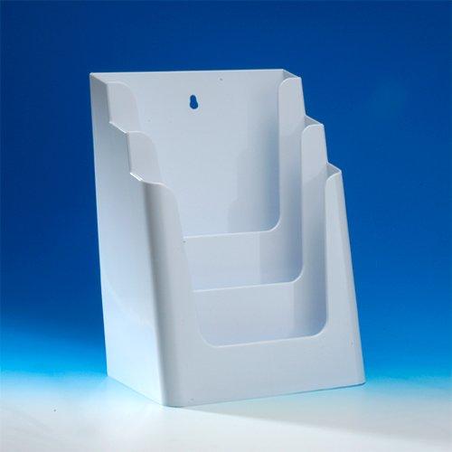 VITAdisplays Prospektständer, DIN A4, 3 Etagen, White (NE-240W)