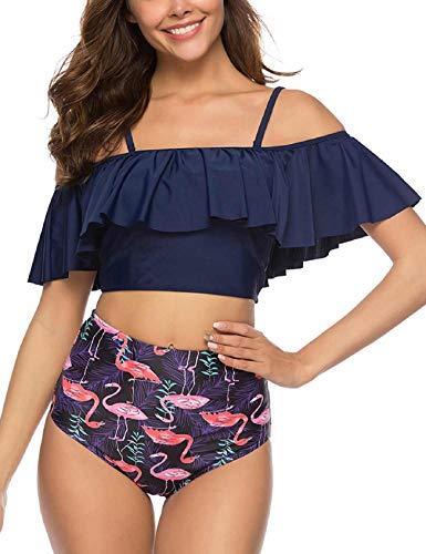 Tuopuda Costume da Bagno Donna Bikini Mare Due Pezzi Vita Alta Set Bikini Costumi da Bagno Swimwear Beachwear