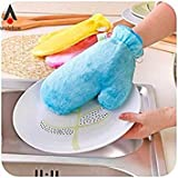 Yellow, 1 : Waterproof Magic Gloves Scouring Pad Cleaning Wash Dishes Degreaser Tool