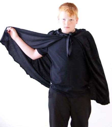 Faschings-Gothic-Halloween-Hexe-Harry Potter Kinder KURZ SCHWARZ MANTEL/UMHANG Kostüm Zubehör (Harry Potter Kostüm-assistent)