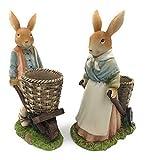 Happy Gifts Osterhasen Paar mit Schubkarre