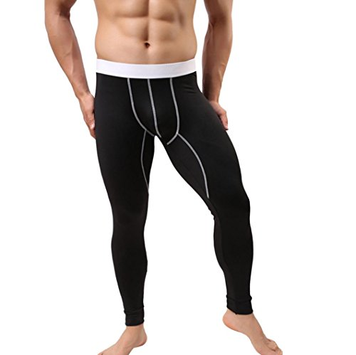 Pants Herren,Binggong Herren Baselayer Unterwäsche Warm hochwertiger Cotton Legging Pants Thermohose Yoga Slim pants Trainingsanzug Super bequem Stretch Unterhosen (Schwarz, L) (Unterwäsche Fliegen)