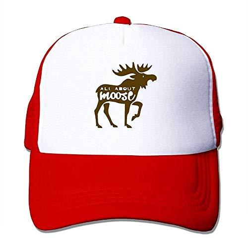 Hoswee Unisex Kappe/Baseballkappe, Men&Women Mesh Back Core Baseball Cap Moose on The Loose86 Outdoor Baseball Hat Camo Mesh-back Baseball Kappe