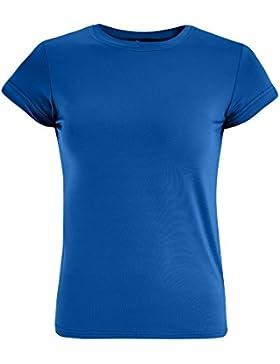 oodji Ultra Donna T-Shirt dal Taglio Dritto con Scollo Rotondo