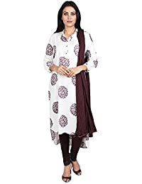 Vastra Vinod Women's Rayon Straight Salwar Suit Set