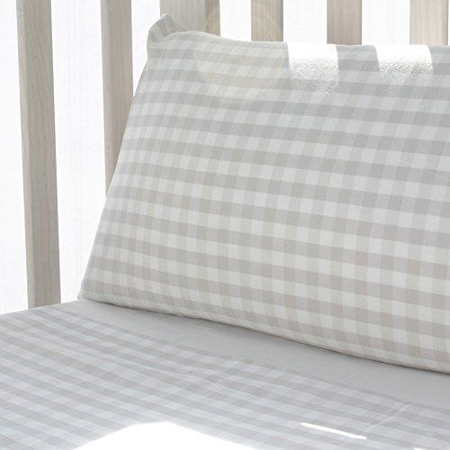 Pack sábanas para cuna 120x60 cuadritos beige