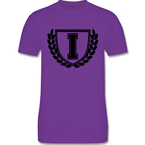 Anfangsbuchstaben - I Collegestyle - Herren Premium T-Shirt Lila