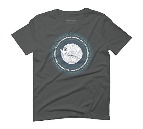 Winter Fox Men's Graphic T-Shirt - Design By Humans Anthracite