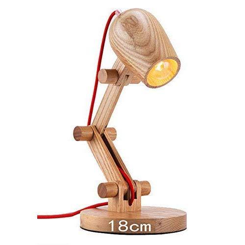 Tischlampe mit Holzgestell Multi-Angle Swing Arm Designer Lampe Schreibtisch Tisch Büro Nachttischlampe Lesen Studie Arbeit Lampe Licht -