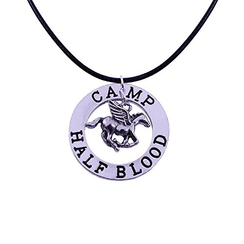 Percy Kostüm - Percy Jackson Camp fliegendes Pferd Anhänger Leder Schnur Halskette Kostüm Prop